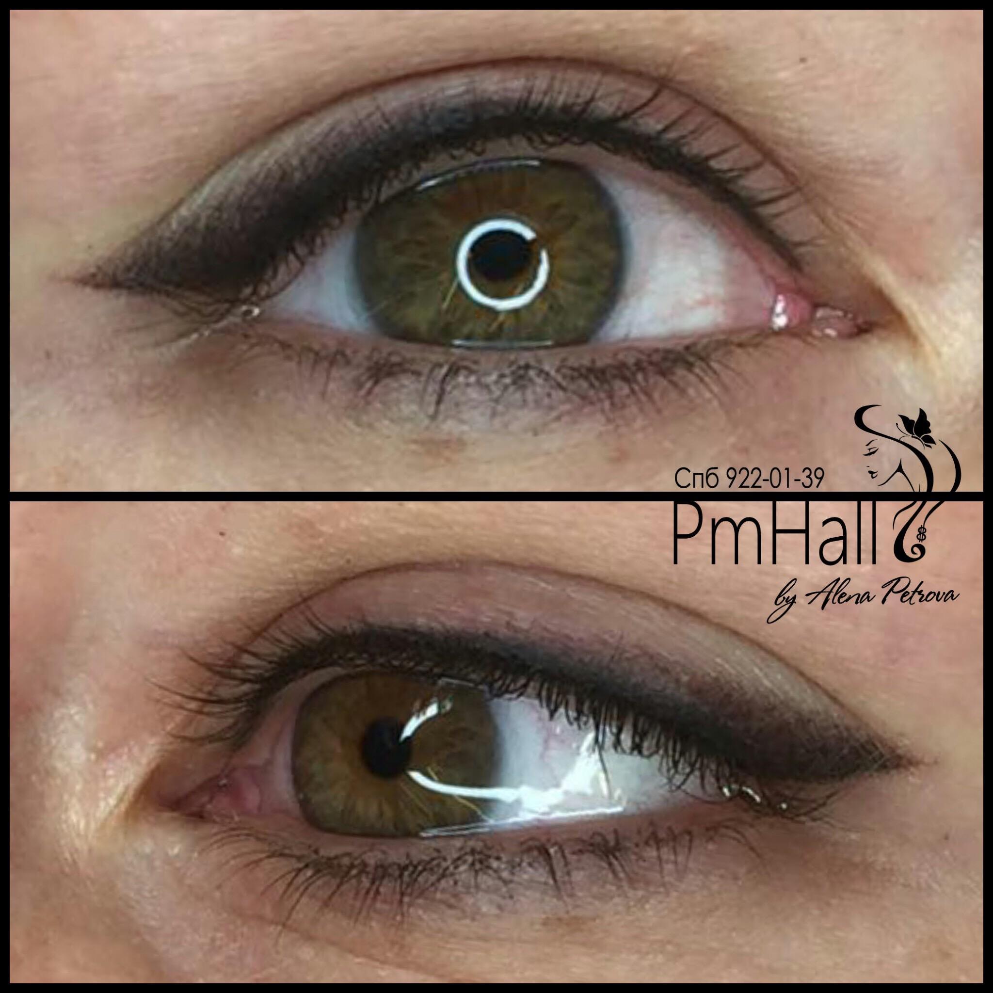 Татуаж глаз фото до и после отзывы